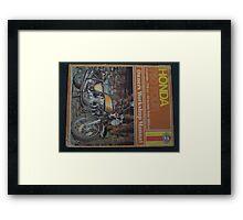 HONDA FOUR Framed Print