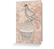 Pigeon Cake Greeting Card