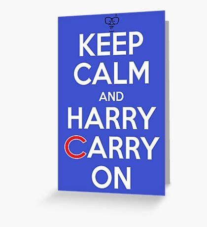 Keep Calm Harry Carry On Cubs Greeting Card