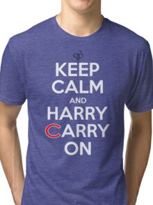 Keep Calm Harry Carry On Cubs Tri-blend T-Shirt