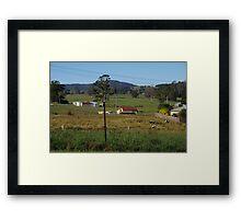 Small town in Tasmania Framed Print