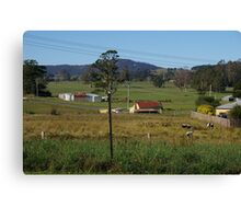 Small town in Tasmania Canvas Print
