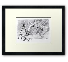 War of the Worlds, Fighting Machine Down. Framed Print