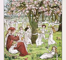 The Pied Piper of Hamlin Robert Browning art Kate Greenaway 0005 Dancing Round the Tree Frontpiece by wetdryvac
