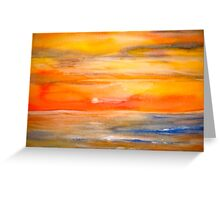 Landscape Abstract...Lake Superior Sun Greeting Card
