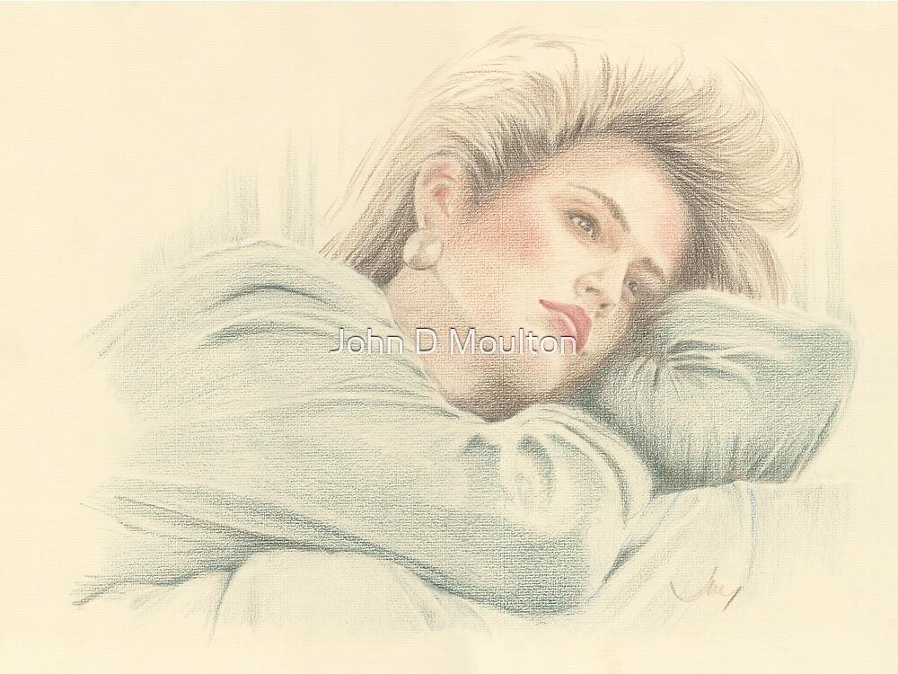 """""""Cindy"""" Colour Pencil Artwork by John D Moulton"""