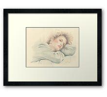 """Cindy"" Colour Pencil Artwork Framed Print"