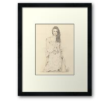 """Elise"" Colour Pencil Artwork Framed Print"