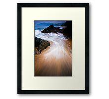Ocean swirls Framed Print