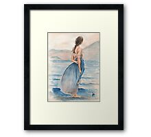 """Evening Light"" Water Colour Painting. Framed Print"
