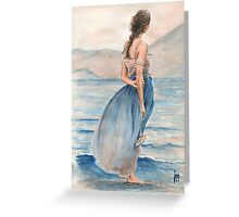 """""""Evening Light"""" Water Colour Painting. Greeting Card"""