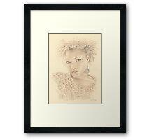 """Gloria"" Colour Pencil Artwork Framed Print"