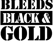 the insurance policy clerk bleeds black and gold by teeshoppy