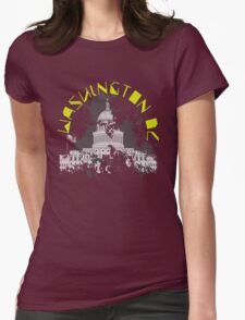 Washington D.C. Yellow Womens Fitted T-Shirt