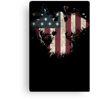 American Eagle - Black Canvas Print