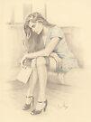 """""""It's Goodbye"""" Colour Pencil Artwork by John D Moulton"""