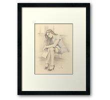 """It's Goodbye"" Colour Pencil Artwork Framed Print"