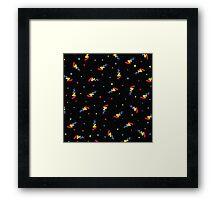 Arcade Carpet - Rainbow Confetti Framed Print