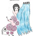 Save Water Shower With A Poodle by Trish Loader