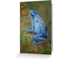 Electric Blue Poison Dart Frog Greeting Card