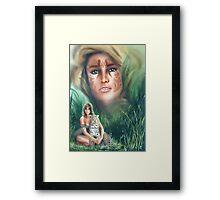 """""""She Cat"""" Water Colour Airbrush Artwork Framed Print"""