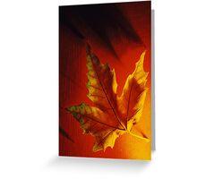Inferno Leaf Greeting Card