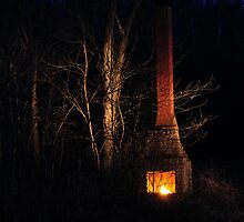 Isolated Fire Place  by mdel747