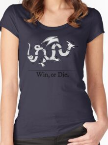 Win, or Die.  Women's Fitted Scoop T-Shirt
