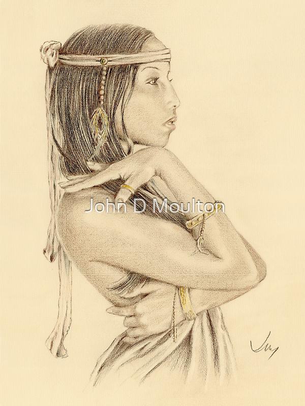 """""""Tanisha"""" Colour Pencil Artwork by John D Moulton"""