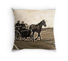 Amish Buggy Throw Pillow