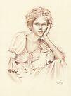 """Thoughtfulness"" Colour Pencil Art by John D Moulton"