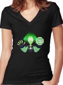 Peridot - Nebula Women's Fitted V-Neck T-Shirt