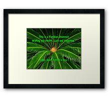 Floridian Shamrock Framed Print