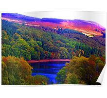 The Hills Are Alight, The Peak District Poster
