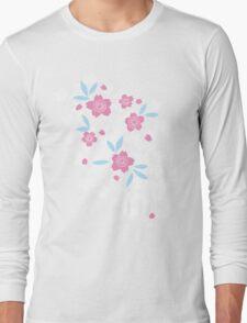 Cherry Blossom - Mint Green Long Sleeve T-Shirt