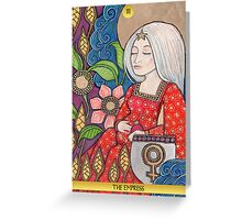 III The Empress Tarot Card Greeting Card