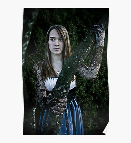 Girl With Bark Poster