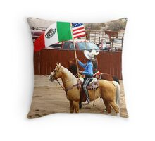 Presentation of the Flags Throw Pillow