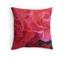 The Coronation of Carnations Throw Pillow