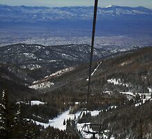 The Santa Fe Valley from the Sangre de Cristo Mountains by Roschetzky