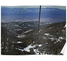 The Santa Fe Valley from the Sangre de Cristo Mountains Poster