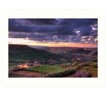 Early Morning in Gozo Art Print