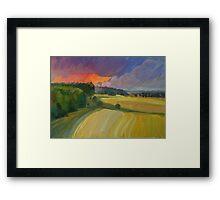 The sunset after rain Framed Print