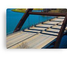 A close look at the Rusty 360 bridge Canvas Print