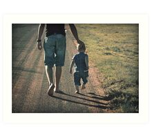 And when you get tired, little one, I will carry you. Art Print