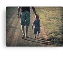 And when you get tired, little one, I will carry you. Canvas Print
