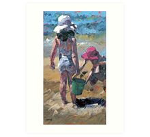 Sandcastles V Art Print