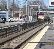 MBTA Commuter Rail outbound to Providence by Eric Sanford