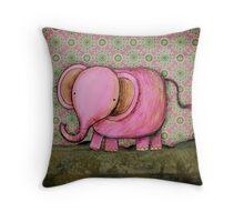 Elephant Joe card Throw Pillow