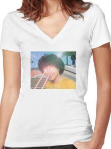 Zordon 101 Women's Fitted V-Neck T-Shirt
